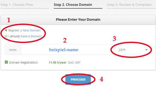 Domain Adresse bei Siteground überprüfen und registrieren