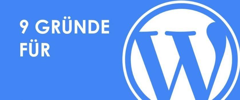 9 Gründe für WordPress und Logo
