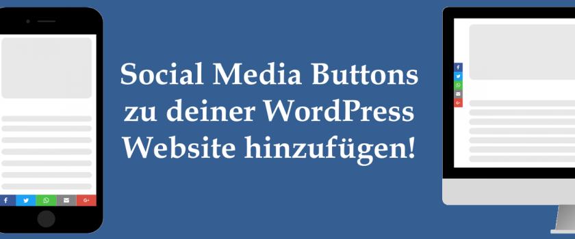 Social Media und Share Icons auf Desktop und Smartphone und Beitragstitel