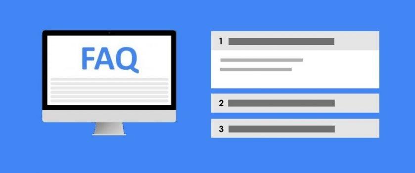 Desktop MockUp mit FAQ Seite für WordPress + Akkordeon Element