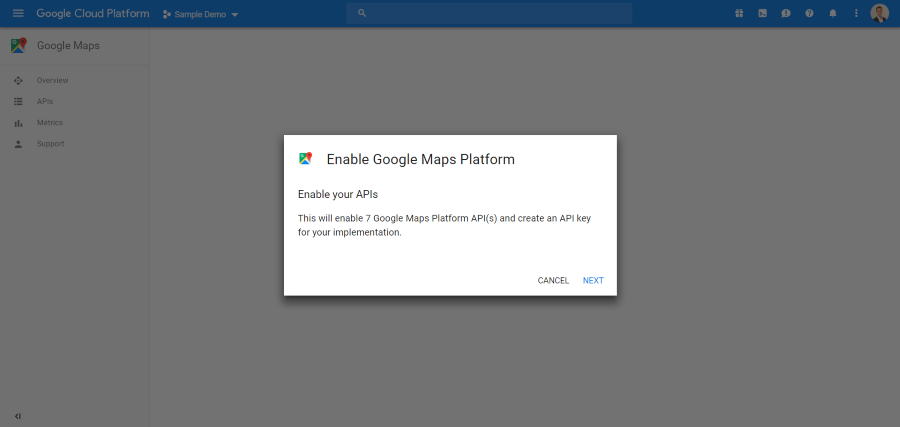 Google Maps - Enable API