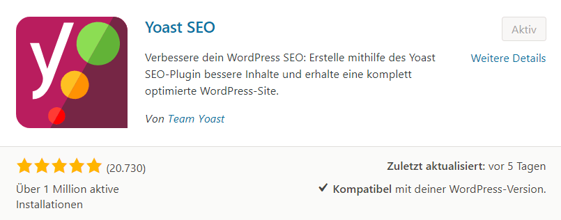 WordPress Yoast SEO PlugIn - Snippet
