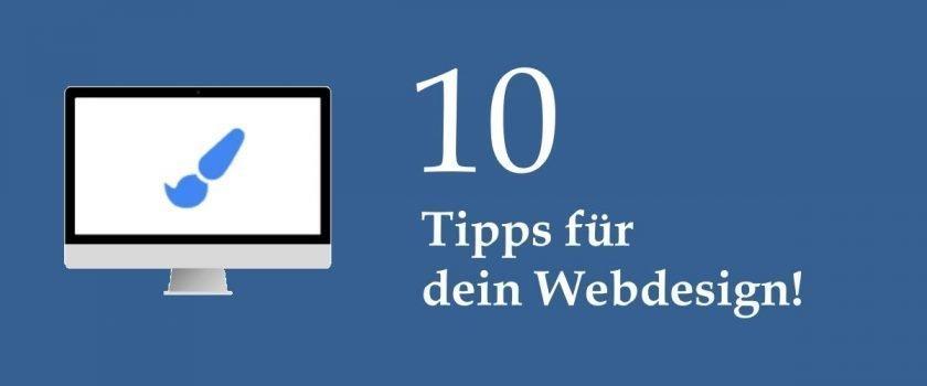 10 Tipps für dein WordPress Webdesign - Titelbild