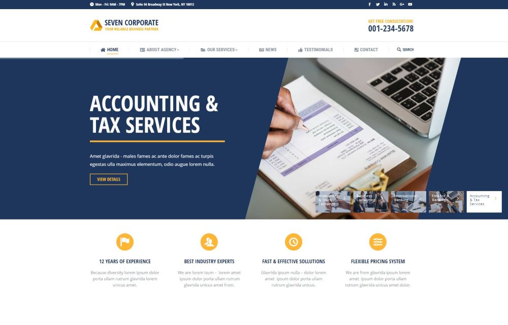 The7 Premium Theme - Accounting & Tax Screenshot
